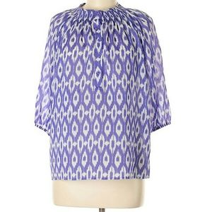 Collective Concepts Purple Printed Top M